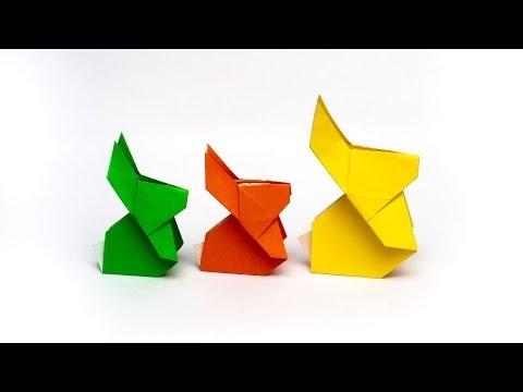 วิธีการพับกระดาษเป็นรูปกระต่าย แบบของเอ็ดวิน คอรี่ Origami Rabbit