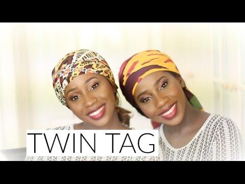 MEET MY TWIN SISTER - TWIN TAG | AdannaDavid