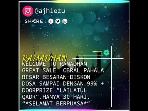 Quotes Dibulan Ramadhan Keren Kinemaster Youtube