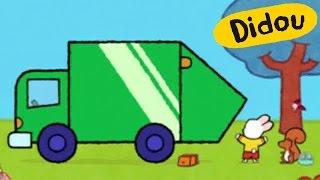 Camion poubelle - Didou, dessine-moi un camion poubelle |Dessins animés pour les enfants