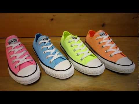 Neon Converse All Star Low Tops - YouTube