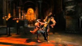 New MK9 Gameplay Xray moves Johnny cage Kitana Jax Mortal Kombat 2011 720p HD!