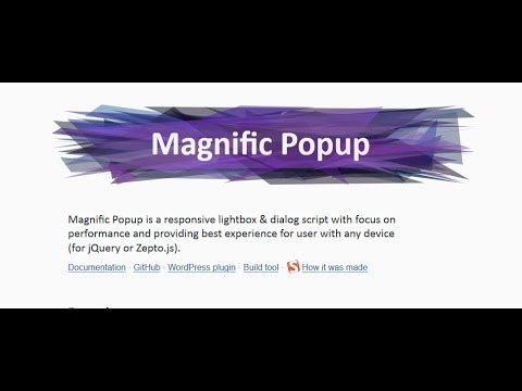Magnific Popup jQuery Plugin Uses in HTML Template - YouTube