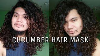 Cucumber hair mask made simple Less hairfall during wash day naturally curly Filipino
