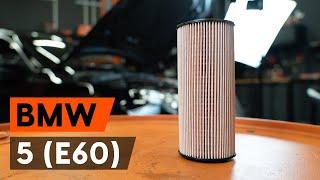 Kā nomainīt eļļas filtri un motoreļļa BMW E60 [AUTODOC VIDEOPAMĀCĪBA]