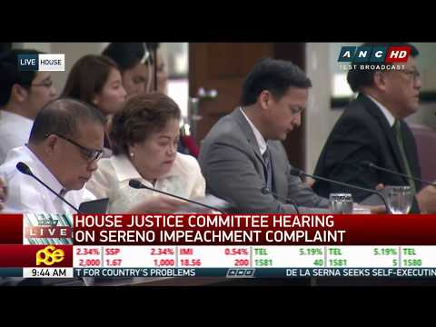 WATCH: House panel tackles Sereno impeachment complaint
