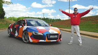 I Vinyl Wrapped My Gated Manual Audi R8 on a $200 Budget!!