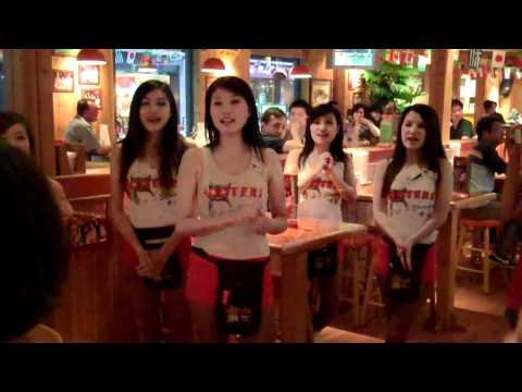 Hooters Girls in Shanghai, China