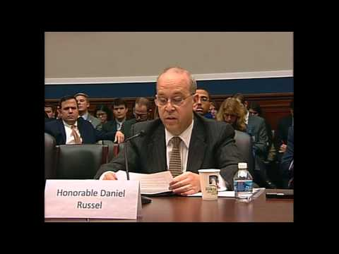 Assistant Secretary Russel Testifies on Maritime Disputes in East Asia