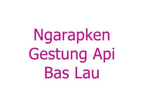 LIRIK LAGU NGARAP GESTUNG API BAS LAU - ROBBY GINTING