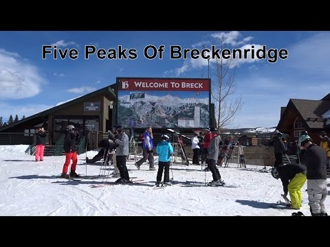 Five Peaks Of Breckenridge Colorado - 3/10/2017