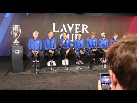 Team Europe's Press Conference in Advance of the 2018 Laver Cup in Chicago