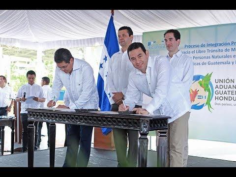 #InformeNacional   Histórica unión aduanera entre Guatemala y Honduras entra en vigencia