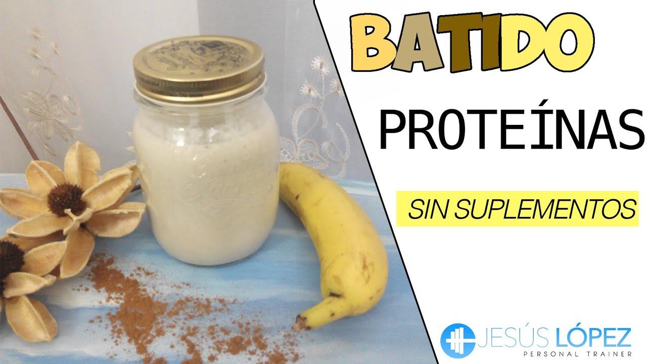 Batido proteinas vegano casero