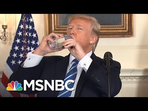 After Mocking Rubio, President Donald Trump Has A Water Bottle Moment | The 11th Hour | MSNBC