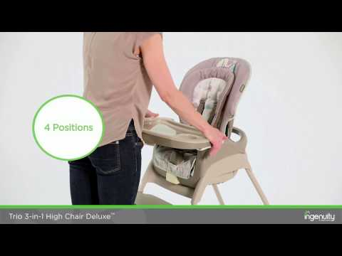 Using Your Ingenuity Trio 3-in-1 Deluxe High Chair In Sahara Burst