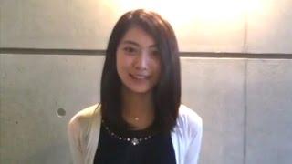 2010年ホリプロタレントスカウトキャランバングランプリの安田聖愛からメッセージが届いています! 映画「群青色の、とおり道」、ちょっと怖い...