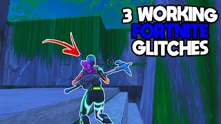 3 WORKING GLITCHES IN FORTNITE BATTLE ROYALE - FORTNITE GLITCHES / 3 GLITCHES