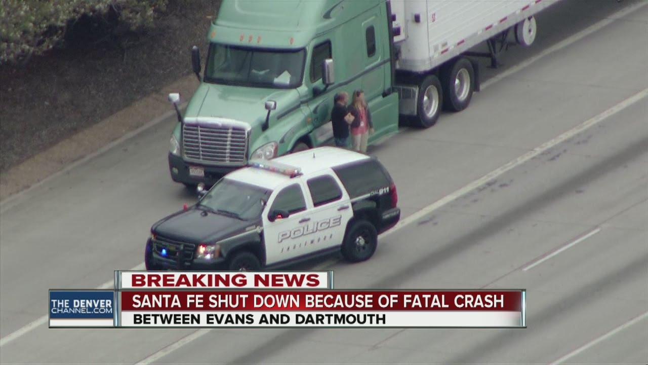 Deadly crash closes Santa Fe Drive in Englewood