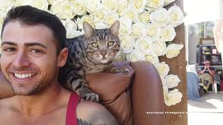 Australian Firefighters and Catmantoo Cats  behind the scenes of the 2021 Calendar photoshoot