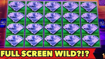 ⭐️FULL SCREEN WILD AT MAX BET??⭐️Can You Believe this? Downtown Diamond Slot Huge Win Bonus