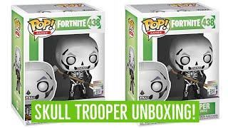 Funko Pop Vinyl Fortnite SKULL TROOPER Unboxing! Fortnite Battle Royale! Fortnite toys!