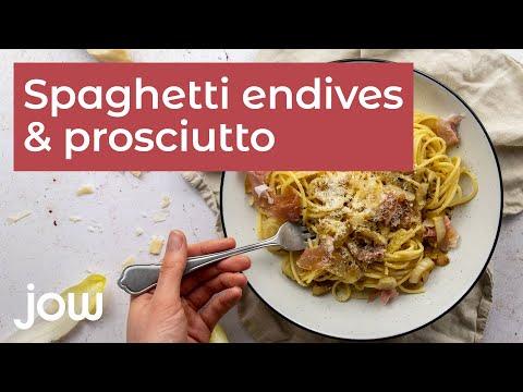 recette-des-spaghetti-endives-&-prosciutto