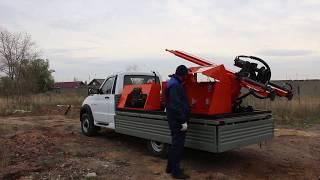 Буровая установка.  Испытания УРБ 2А2 на шасси КАМАЗ - 43118