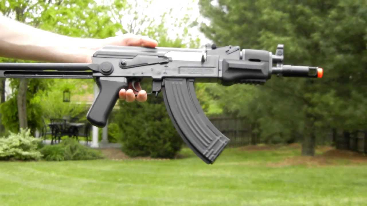 Crosman Pulse R76    Utg Ak47 Commando Shooting Test