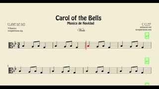 Carol of the Bells Partitura de Viola Villancico