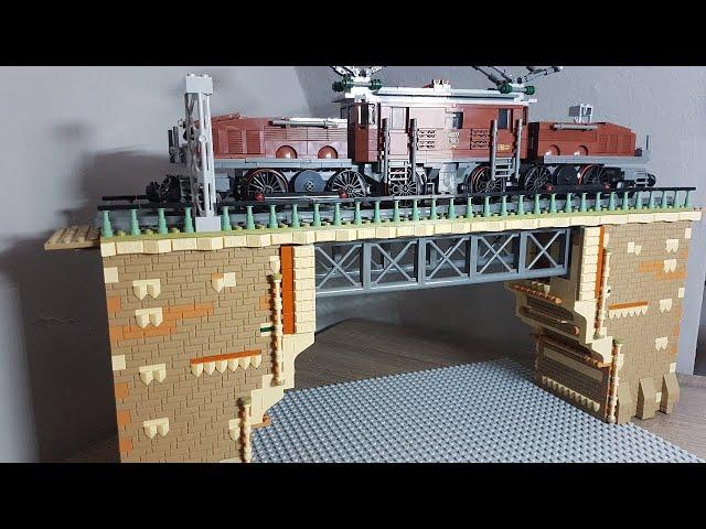 Live MOC Oberleitungsmast bauen für die Eisenbahnanlage