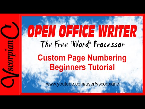 OpenOffice Writer Tutorial - How to Start Page No. on Second Page by VscorpianC