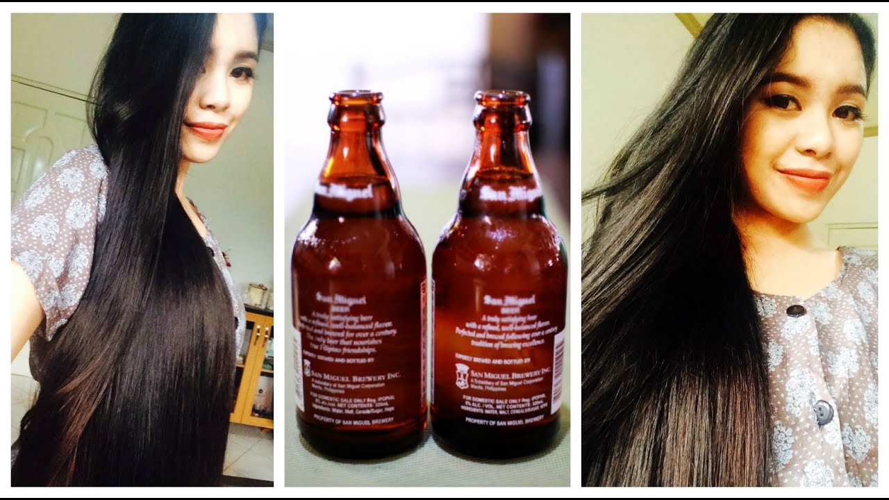 Beer Rinse For Softer ShinierStraighter And Fuller Hair