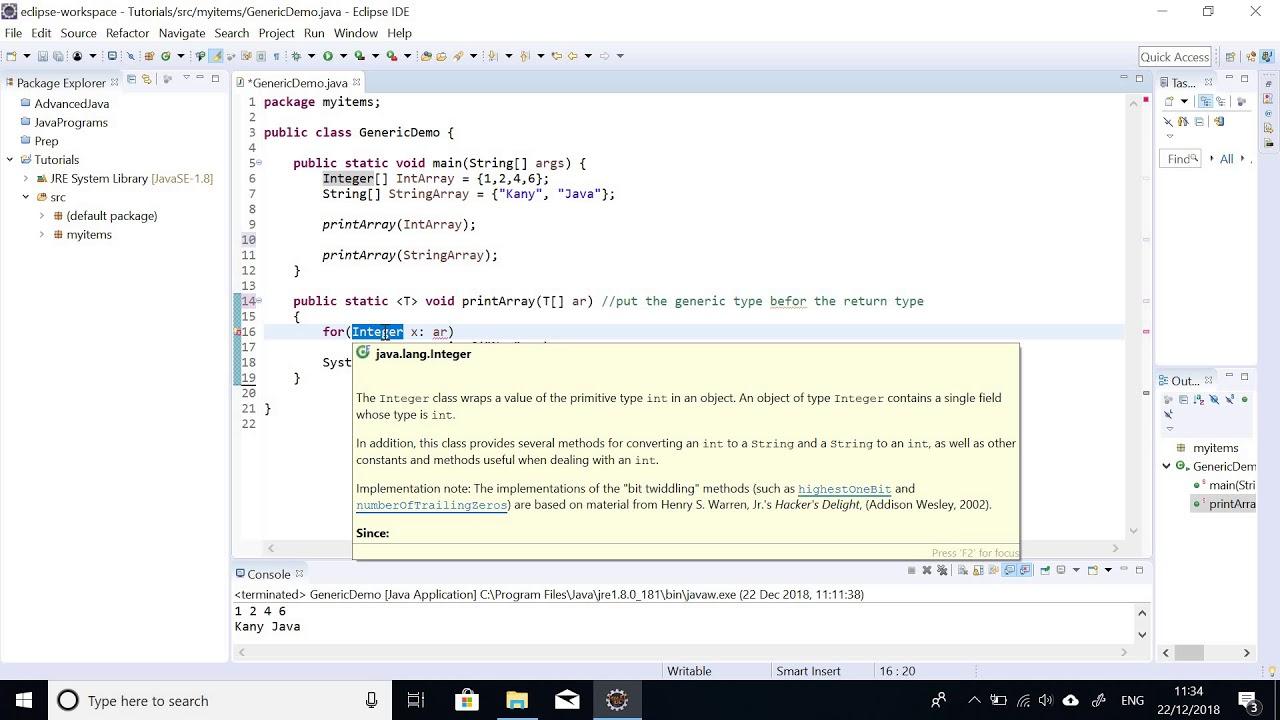 Java tutorial: generics in java   java generics [generic raw type.