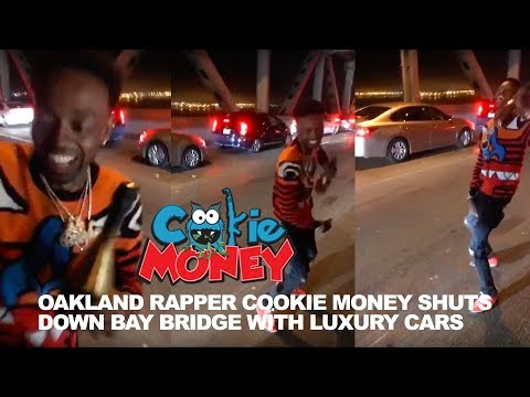 Oakland Rapper Cookie Money shuts down club and San Francisco Bay Bridge with Luxury Cars