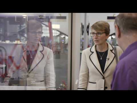 First Briton in space Dr Helen Sharman officially opens the Diamond