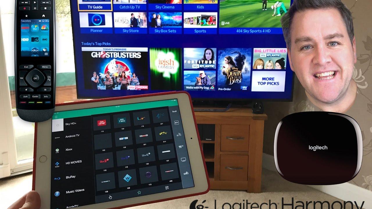 Logitech Harmony Ultimate With Hub Ipad Iphone Ios App Sky Hd