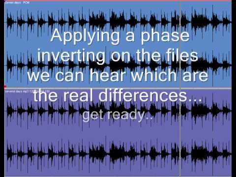 Audio PCM converted in an Mp3. Listen the real differences. Audioworks Studio