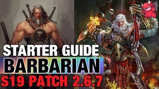 Barbarian Starter Guide Diablo 3 Patch 2.6.7 Season 19 Whirlwind
