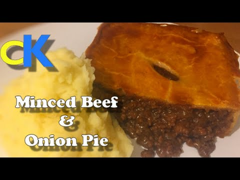 Minced Beef & Onion Pie ( The Best Meat pie Recipe Ever )