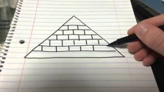 how to draw the illuminati symbol