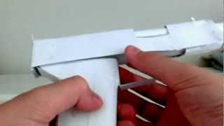 Paper Pistol [ With working slide and removable magazine ]