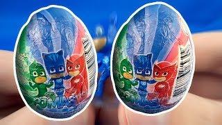 PJ Masks Surprise Eggs Opening! PJ Masks Toys for Kids #198