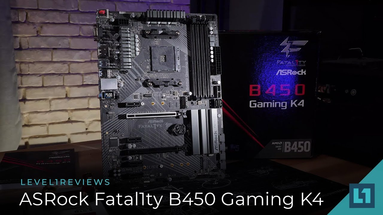 ASRock Fatal1ty B450 Gaming K4 Review + Linux Test