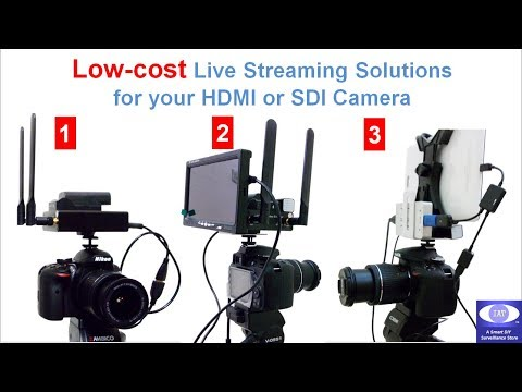 Low-cost Facebook YouTube Social Media Live Streaming solutions for Camera w/ HDMI or SDI output