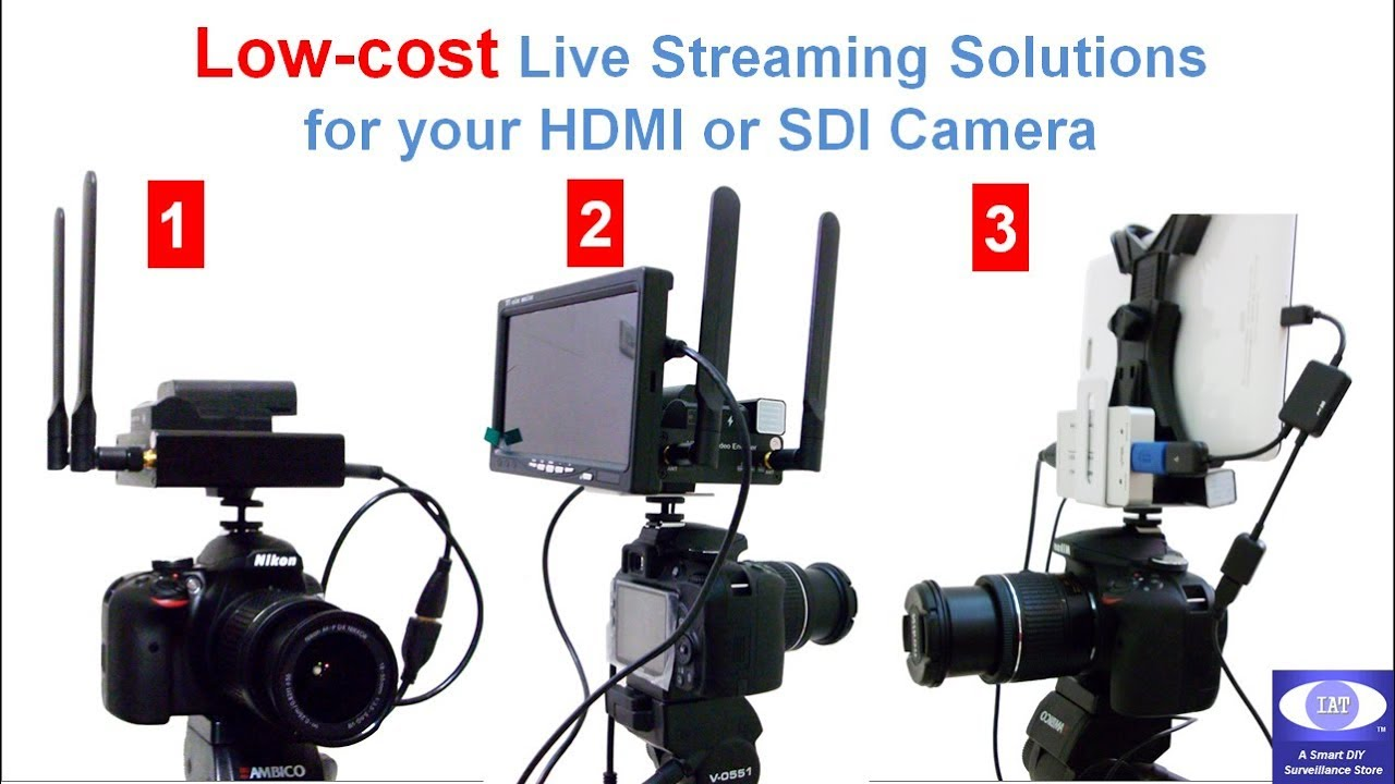 Low cost facebook youtube social media live streaming for Camera streaming live