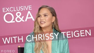 Chrissy Teigen Q&A With FOREO