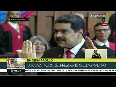 Así se juramentó Nicolás Maduro como PRESIDENTE de Venezuela para el período 2019-2025