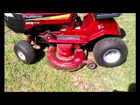 How To Change Blades On A 94 Murray Hydrostatic Riding