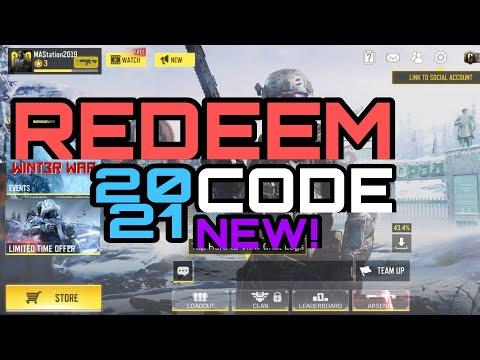 NEW????Redeem Code Rewards In Call Of Duty Mobile Jan,2021